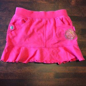 ‼️ 5/$40 Apple Bottom hot pink skirt, 18 months